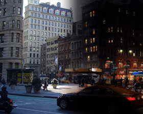 City Night Matte Painting